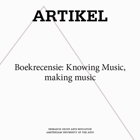 Boekrecensie: Knowing Music, making music