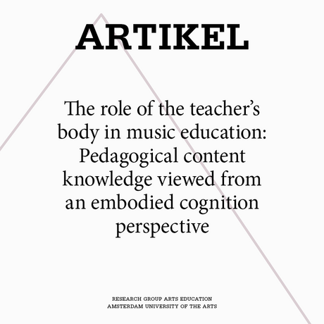 The role of the teacher's body in music education: Pedagogical content knowledge viewed from an embodied cognition perspective
