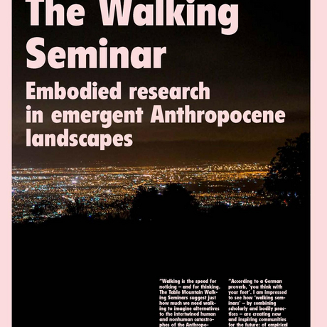 The Walking Seminar; Embodied research in emergent Anthropocene landscapes