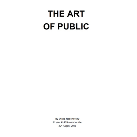 The art of public
